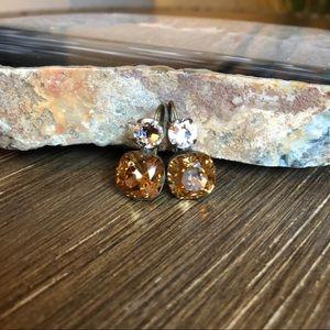 Crystal & Amber Sorrelli Earrings